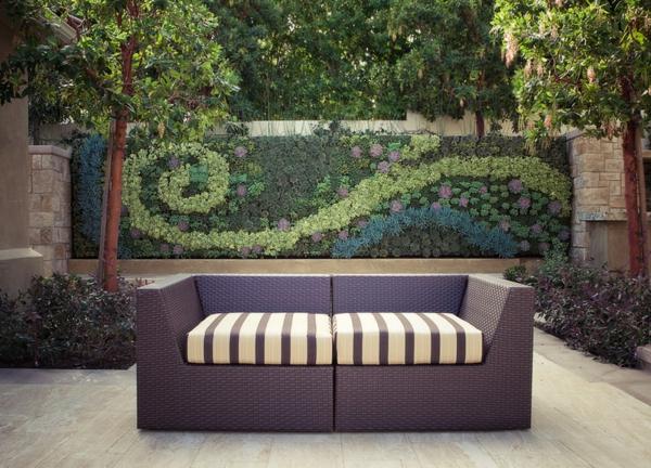 zeitgenössisch contemporary outdoor Sichtschutz im Garten beleuchten