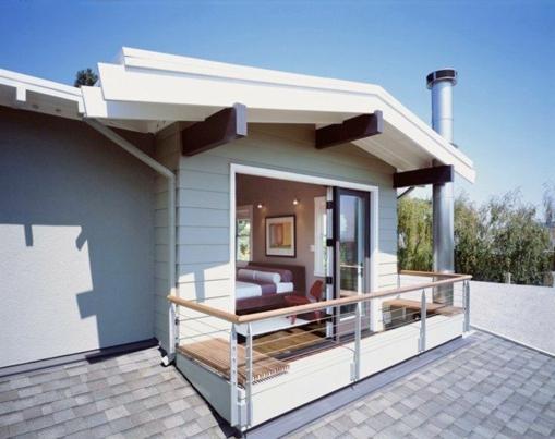 Terrassengeländer und Balkongeländer dach kompakt fläche