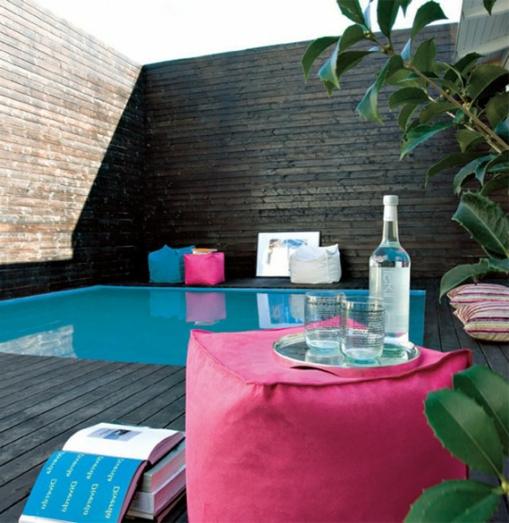 Terrassengeländer hoch sichtschutz pool