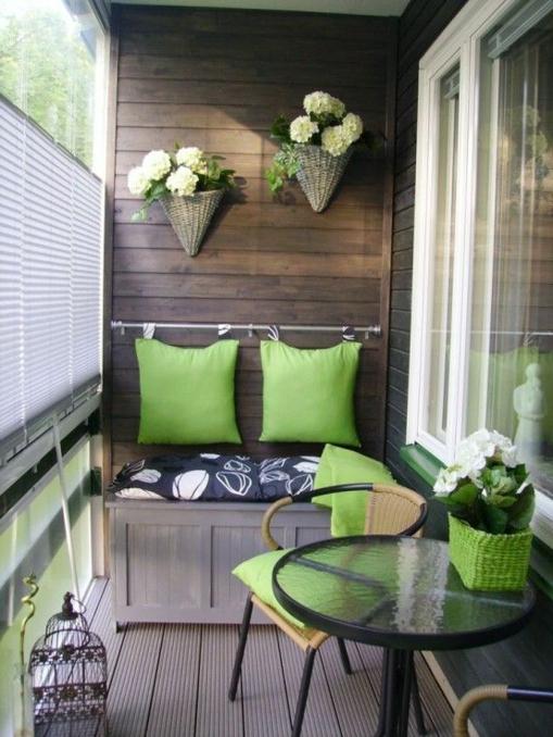 kompakt sichtschutz rattan blumentopf terrassengeländer und balkongeländer