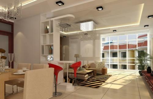 33 einrichtungsideen f r tolle deckengestaltung im wohnzimmer for Moderne deckenbeleuchtung wohnzimmer