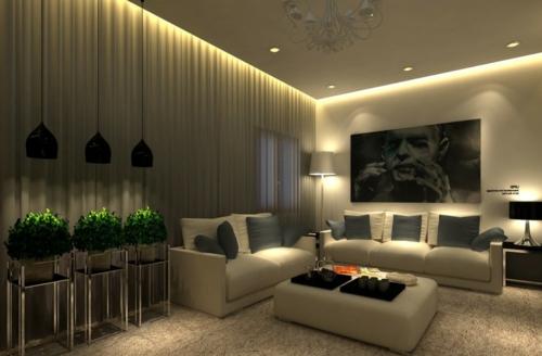 wohnzimmer beleuchtung modern | möbelideen, Wohnzimmer dekoo