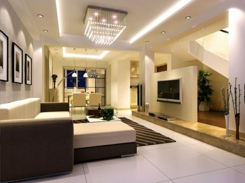 wohnzimmer bar tübingen:großes wohnzimmer gemütlich gestalten : 33 Einrichtungsideen für