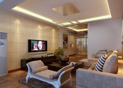 deckengestaltung wohnzimmer modern ~ ideen für die, Wohnzimmer dekoo