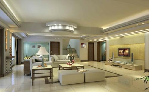 33 einrichtungsideen f r tolle deckengestaltung im wohnzimmer - Moderne zimmerdecken ...