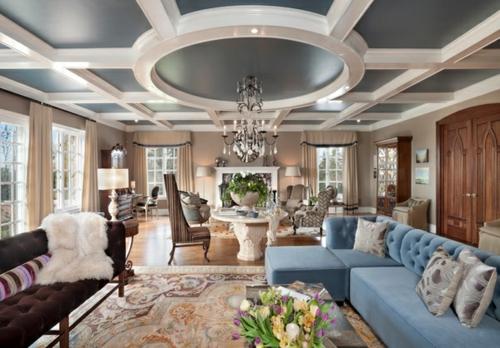 33 einrichtungsideen f r tolle deckengestaltung im wohnzimmer for Moderne innenarchitektur wohnzimmer