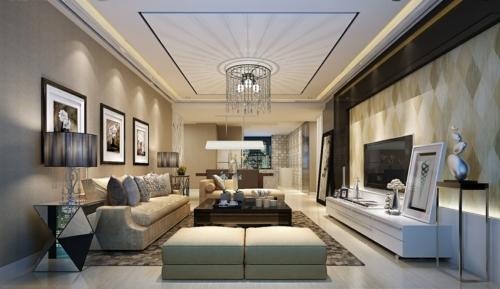 GroB Modern Originell Urban Deckenverkleidung Im Wohnzimmer