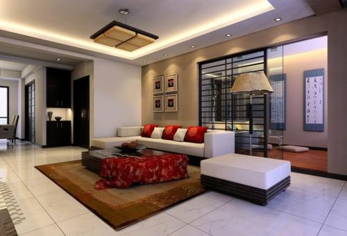 wohnzimmer gemtlich streichen braun ~ moderne inspiration ... - Deckengestaltung Wohnzimmer Modern