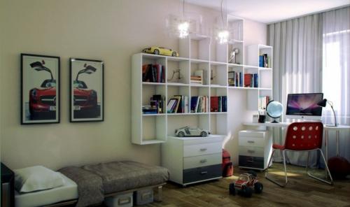 wandregale bücher Einrichtungsideen für Jugendzimmer