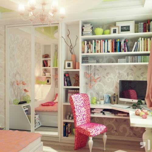 bürotisch lernen Einrichtungsideen für Jugendzimmer
