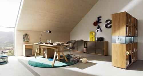 urban ziffer zimmerdecke Einrichtungsideen für Jugendzimmer dachgeschoss