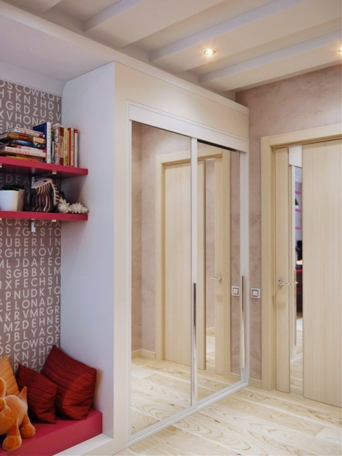 kleiderschrank spiegel Einrichtungsideen für Jugendzimmer