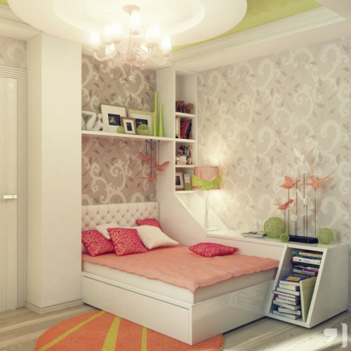 mädchen rosa bettwäsche Einrichtungsideen für Jugendzimmer