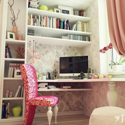 urban polsterstuhl blumenmuster Einrichtungsideen für Jugendzimmer mädchen