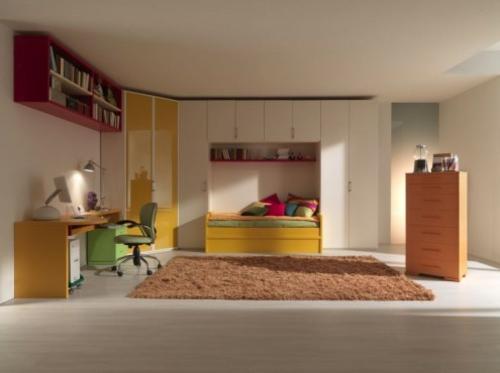 minimalistisch urban trendy Einrichtungsideen für Jugendzimmer