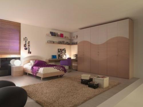 kleiderschrank teppich Einrichtungsideen für Jugendzimmer modern