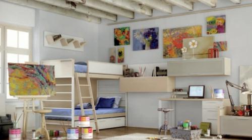 maler kunstvoll Einrichtungsideen für Jugendzimmer praktisch
