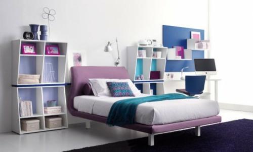 schlafzimmer regale kompakt lösung Jugendzimmer