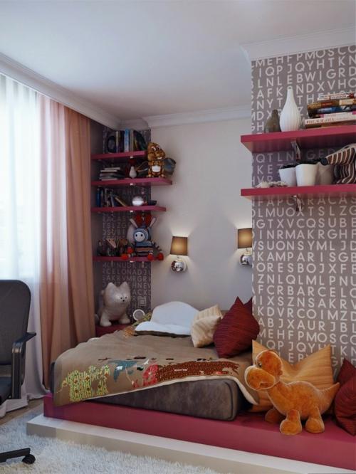 wandgestaltung wanddekoration Einrichtungsideen für Jugendzimmer