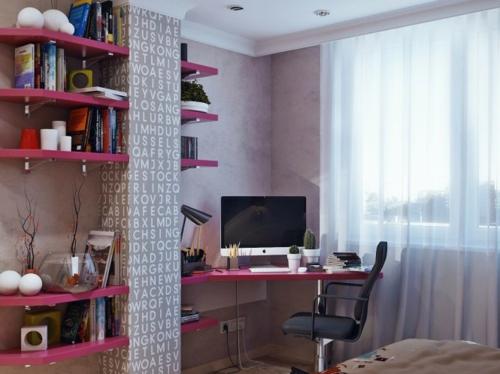 Einrichtungsideen schreibtisch laptop Jugendzimmer