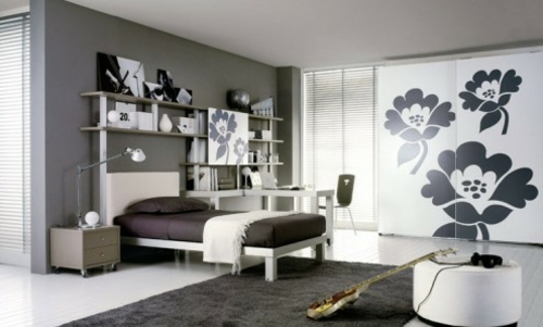 50 einrichtungsideen f r jugendzimmer denken sie bunt und kreativ. Black Bedroom Furniture Sets. Home Design Ideas