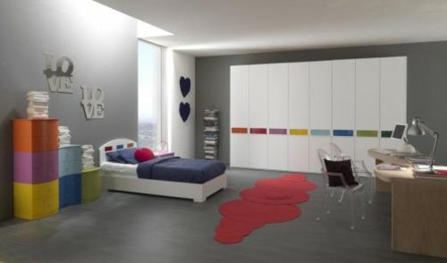 leuchtend farben Einrichtungsideen  Jugendzimmer urban