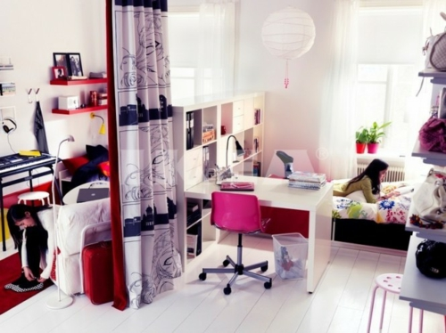 Einrichtungsideen jugendzimmer mit trennwand  50 Einrichtungsideen für Jugendzimmer - Denken Sie bunt und kreativ!