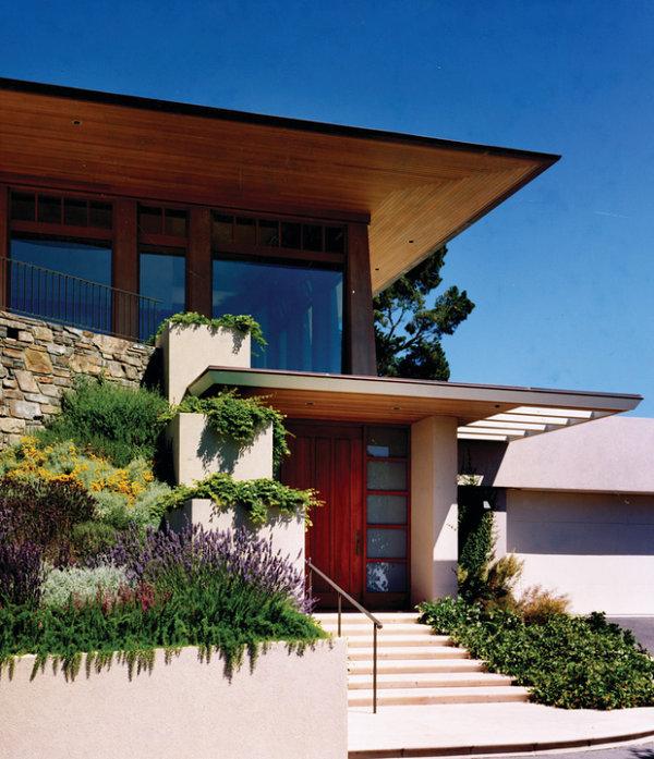 pflanzen arten treppe Veranda gestalten gemütlich überdachung