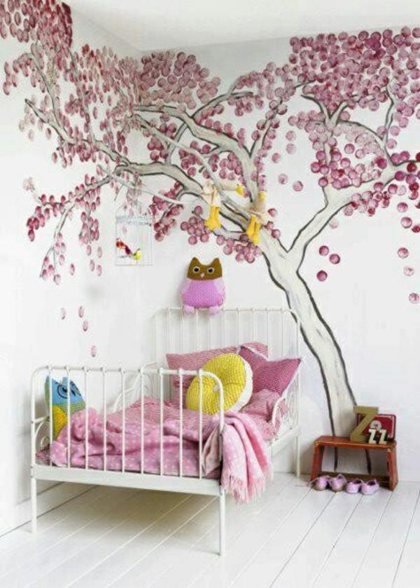 Wände streichen Wohnideen Wanddekoration baumkrone
