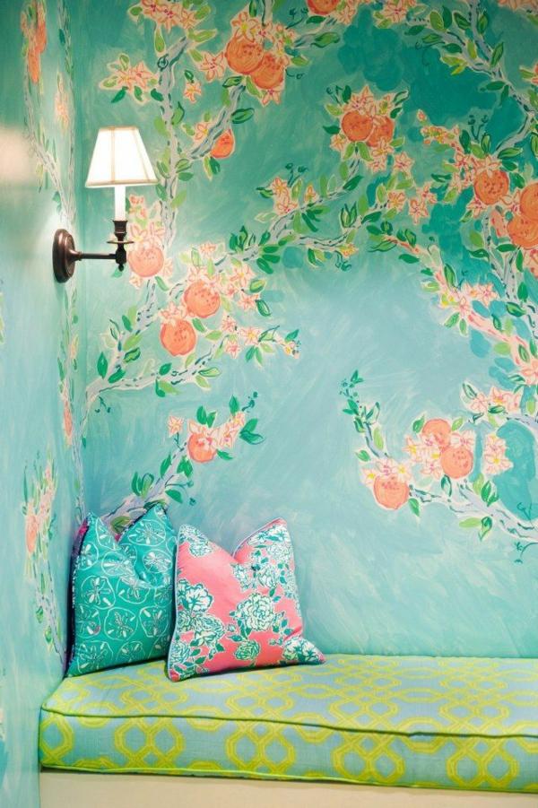 Wände Wohnideen für erstaunliche Wanddekoration frische farben