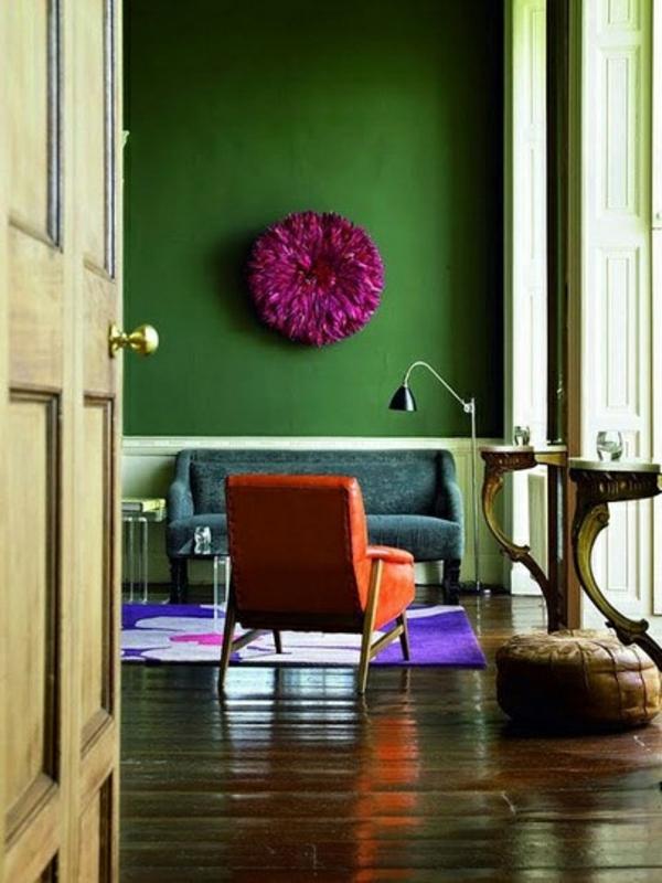wandfarben grün kühn dekoartikel gesättigt