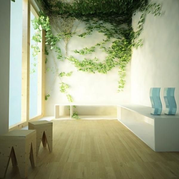 Wanddekoration kletterpflanzen