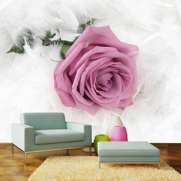 Wohnideen erstaunliche Wanddekoration rose