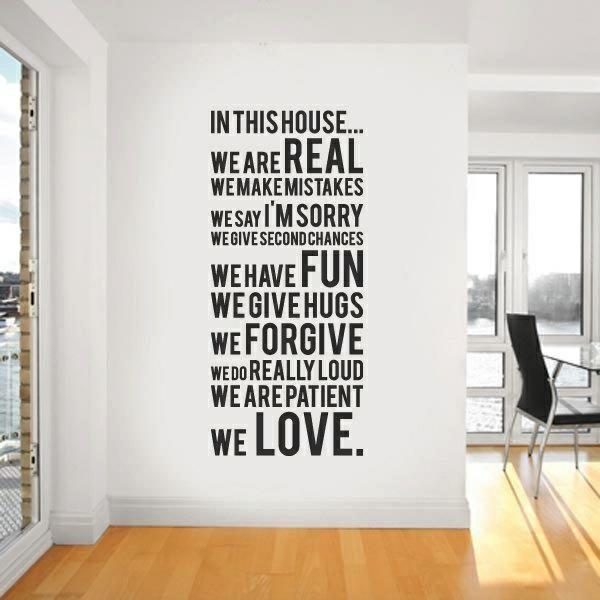 für erstaunliche Wanddekoration spruch Wände streichen