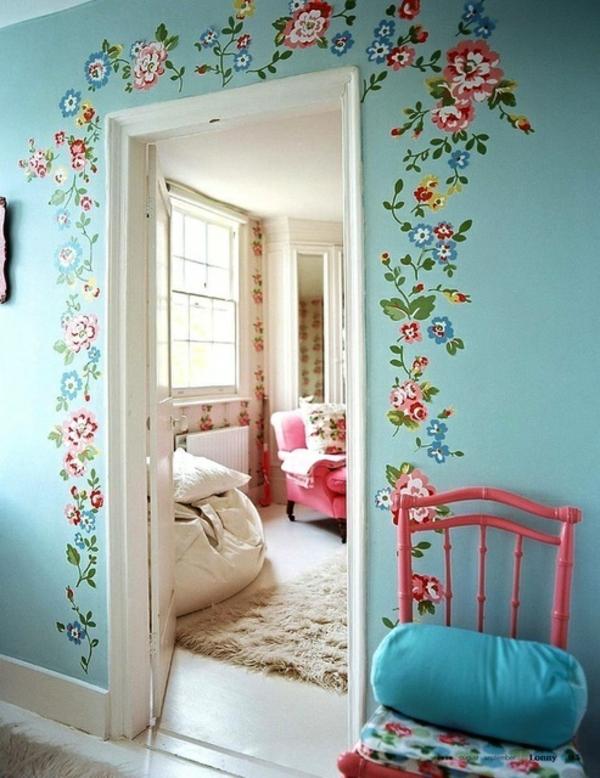 Vintage wohnideen  Wände streichen - Wohnideen für erstaunliche Wanddekoration