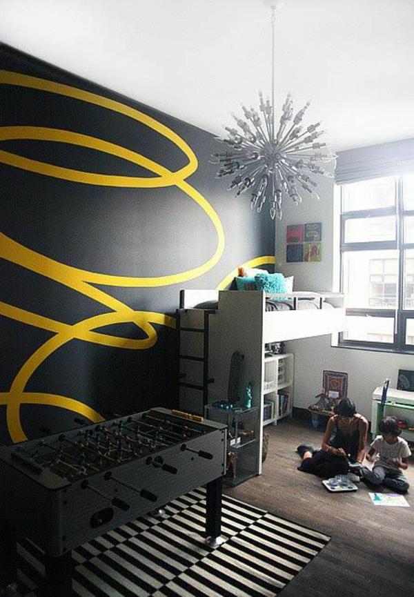 Wände Wohnideen für erstaunliche schwarz gelb spiral