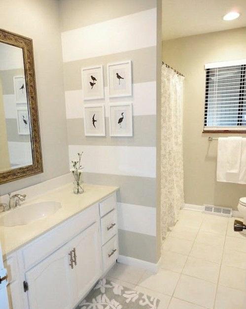 Badezimmer Wanddekoration