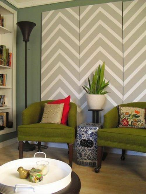 25 coole wandmuster ideen wanddekoration selbst basteln for Wanddekoration ideen wohnzimmer