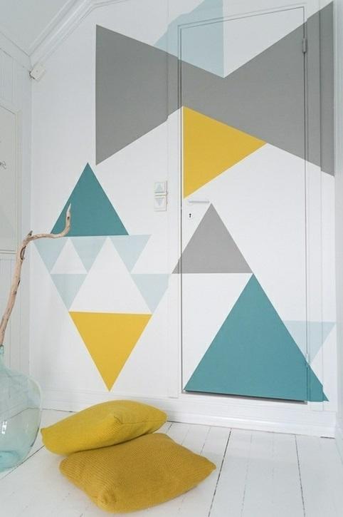 geometrisch formen ecken muster ideen wanddekoration - Wand Muster Ideen
