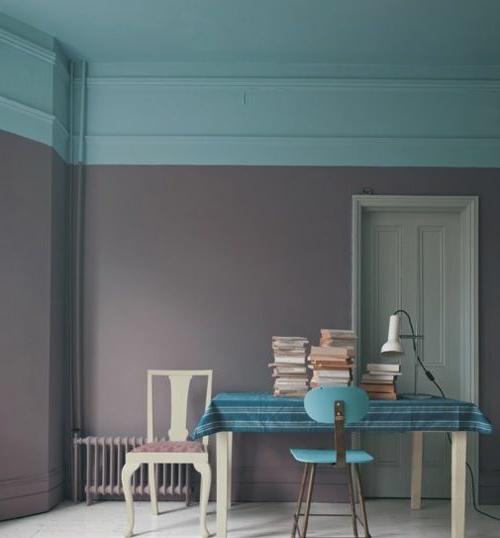 graun blau wandmuster ideen wanddekoration geometrisch formen - Wand Muster Ideen