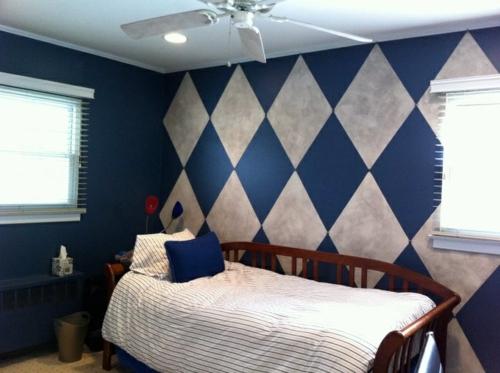Wand Muster 25 coole wandmuster ideen wanddekoration selbst basteln