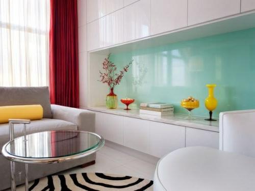 Glanzvoll Farben Wohnideen Für Küche Glasrückwand Leuchtend Blass