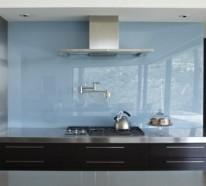 30 Wohnideen für Küche Glasrückwand
