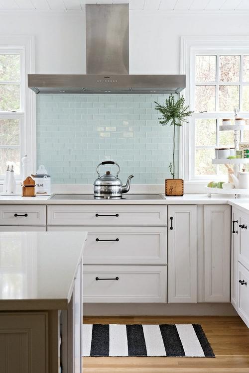 glanzvoll farben Küche Glasrückwand leuchtend streifen