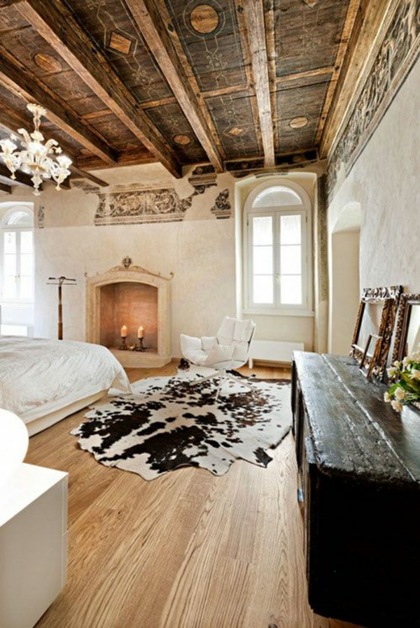 Alte Balkendecke Design Teppich Laminat Wohnzimmer Ideen
