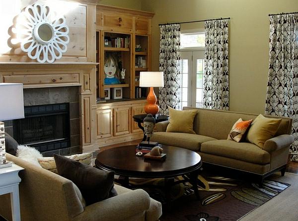 angenehm wohnlandschaft wohnzimmer sofas moderne Tischlampen