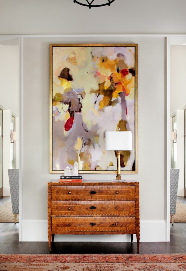 art interior design ideen im korridor gemälde holz