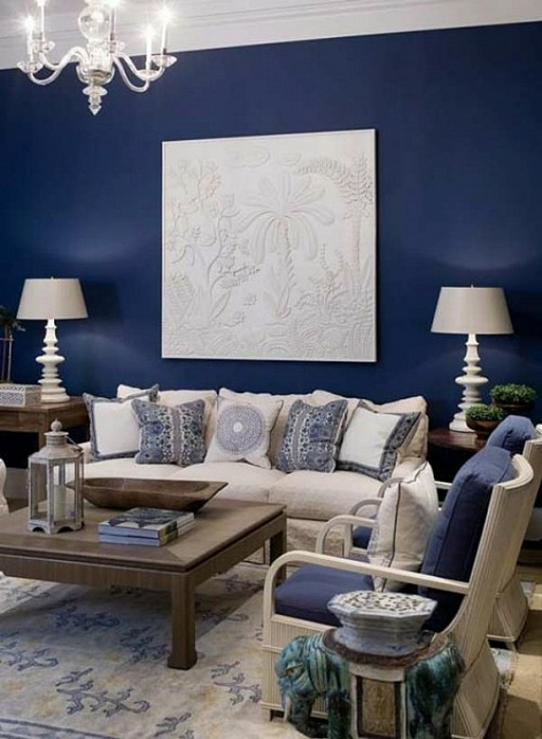 Wandgestaltung Wohnzimmer Grau Rot | Ziakia.com. Wohnzimmerz ... Wandgestaltung Wohnzimmer Blau