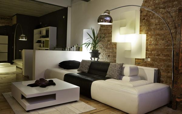 Attraktive Wandgestaltung Stehlampe Glanzvoll Wohnzimmer Sofa Wandfarben  Wohnzimmer