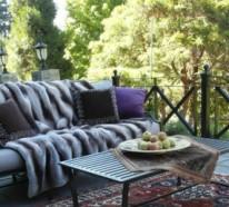 Wohnung einrichten Ideen – Vielfalt an Heimtextilien und lebhaften Texturen